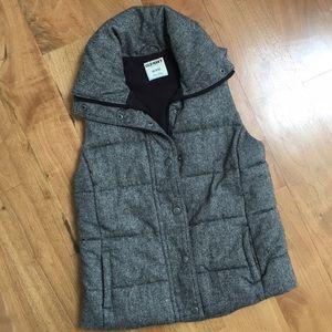 Old Navy Grey Puffer Vest